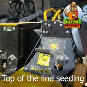 By using a Stinger, we get amazing results with overseeding!